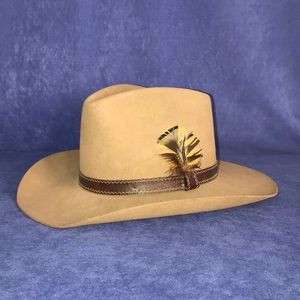 Kevin McAndrew Hand Creased Cowboy Hat Size 7 1/8